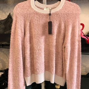RAG & BONE Blush Valerie Crew Long Sleeve Sweater